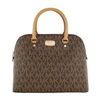 Michael Kors Cindy Large Dome Satchel MK Signature Shoulder Bag Purse Handbag  Michael Kors bag
