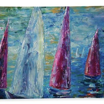 Sails To-night - Beach Towel
