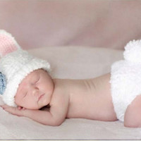 Newborn Baby Girls Boys Crochet Knit Costume Photo Photography Prop = 4457494212