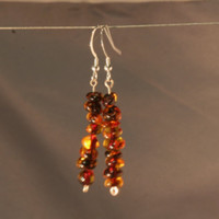 Classic cognac amber earrings - Heyme