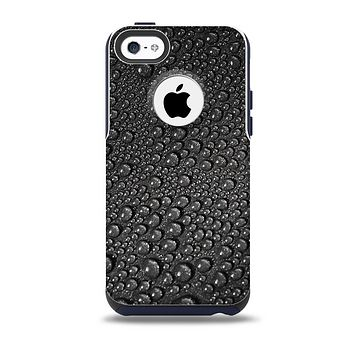 The Black Rain Drops Skin for the iPhone 5c OtterBox Commuter Case
