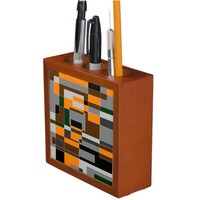 Retro Halloween Themed Abstract Desk Organizer