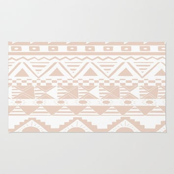 Aztec Coral Area & Throw Rug by Georgie Pearl Designs | Society6