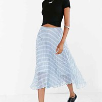 BB Dakota Gali Accordion Midi Skirt- Blue