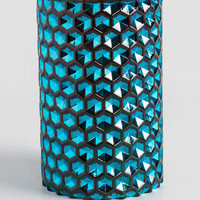 Topaz Blue Glass Lantern
