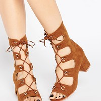 ASOS TOUGHER Gladiator Heeled Sandals
