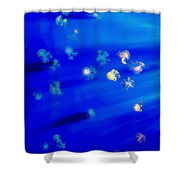 Pack Of Jelly Fish - Shower Curtain