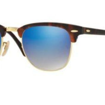 Cheap Ray Ban RB3016 990/7Q 49M Shiny Red/Havana/Blue Flash Gradient outlet