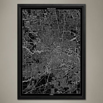 Map Print, Houston