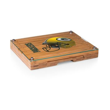 Green Bay Packers - Concerto Glass Top Cheese Board & Tools Set