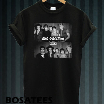 one direction shirt 1D shirt tshirt t-shirt tee shirt printed black color unisex size (BS-95)