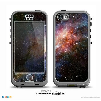 The Multicolored Space Explosion Skin for the iPhone 5c nüüd LifeProof Case