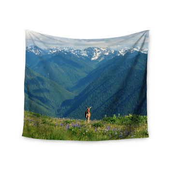 "Robin Dickinson ""Nature's Calling"" Blue Green Wall Tapestry"