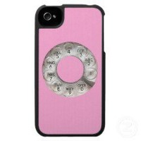 Pink Rotary Phone iPhone 4 Case