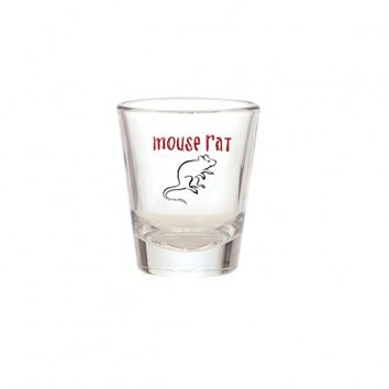 PARKS AND RECREATION MOUSE RAT SHOT GLASS