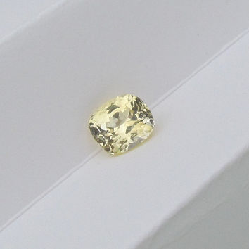 Fine 3.90ct Champagne Yellow Cushion Yellow Sapphire Yellow Diamond Alternative for Engagement Ring Wedding Anniversary Ring