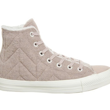 Converse Converse All Star Hi Dusk Pink Stitch Fur - Hers trainers