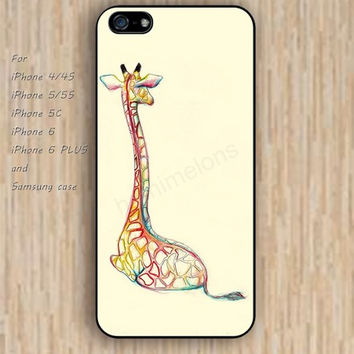 iPhone 6 case dream Giraffe iphone case,ipod case,samsung galaxy case available plastic rubber case waterproof B162