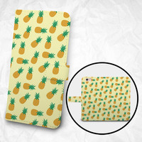 iPhone 6 6S Plus case, Samsung Galaxy S6 case, Edge case, Note 5 4 3 2 PU leather flip cover, wallet case, pineapple pattern (BBSP-031)