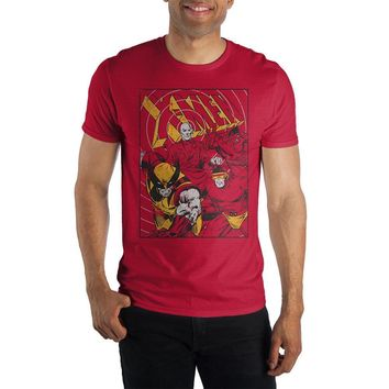 MPTS Marvel Comics X-Men Men's Red T-Shirt Tee Shirt