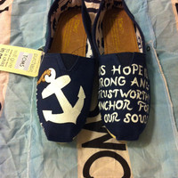 Custom Hand Painted Anchor Toms