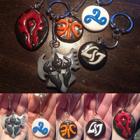 SPRING CLEARANCE! Misc. Gamer Themed Keychains - World of Warcraft and League of Legends Themed