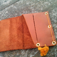 Minimalist wallet women genuine leather credit card sleeve holder slim thin wallet executive gifts brown leather cowhide