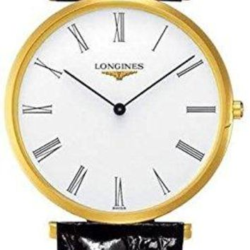Longines La Grande Classique White Dial Black Leather Mens Watch L47552112