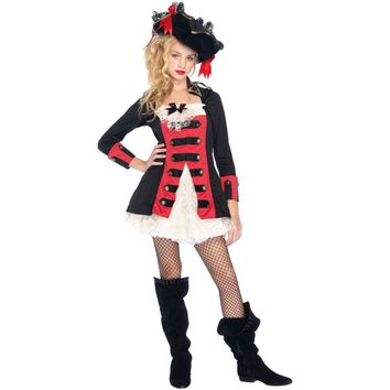 Teen Girls Pretty Pirate Captain Costume
