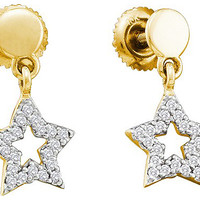 Diamond Fashion Earrings in 10k Gold 0.21 ctw