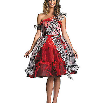 Disney Alice in Wonderland Alice Red Court Dress Adult Womens Costume - Spirithalloween.com