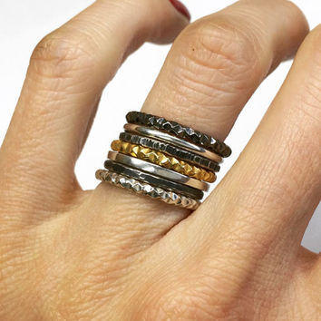 silver set stacking rings,silver stackable rings, silver stack rings, stacking ring set, stack rings, black frida sale,