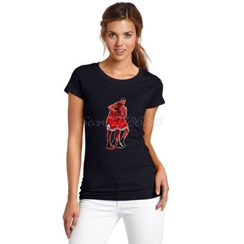 Women Michael Jordan and Scottie Pippen The Bulls Dynasty T-Shirt Lady Clothes T Shirt