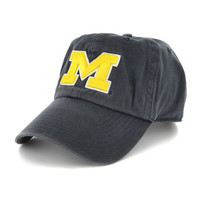 NCAA Michigan Wolverines '47 Clean Up Adjustable Hat, Navy, One Size