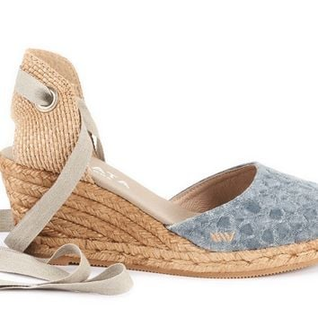 Sagaro Canvas Wedges - Bubble Blue