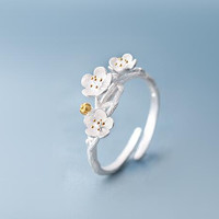 925 Sterling Silver Jewelry Rings  Lotus Flower Rings for  Jewelry Wedding Gift SYJZ061