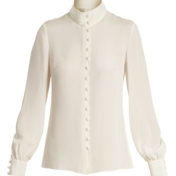 Fleur silk-crepe blouse | Goat | MATCHESFASHION.COM UK