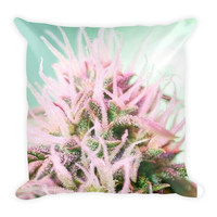 The Elite Cannabis Strain Throw Pillow By Twisted420Glass. from T420G Apparel & Accessories