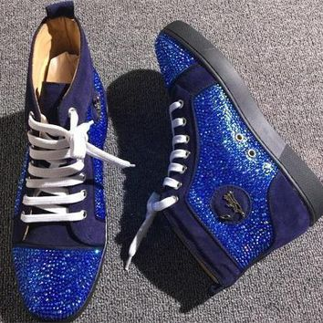 Cl Christian Louboutin Rhinestone Style #1970 Sneakers Fashion Shoes