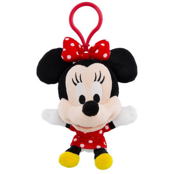 Disney Parks Minnie Mouse Big Face Plush Keychain New with Tags