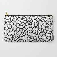 staklo (white with black) Carry-All Pouch by Trebam | Society6