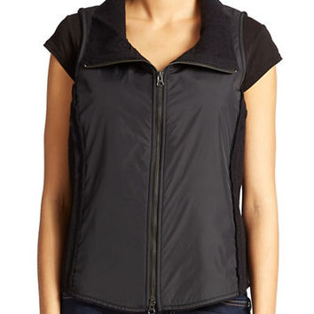 Eileen Fisher Wool Stand Collar Vest