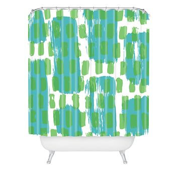 Natalie Baca Paint Play One Shower Curtain