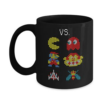 Video Game Gamer Heros Vs Villin Mug