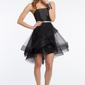 Strapless Dress with Horsehair Skirt