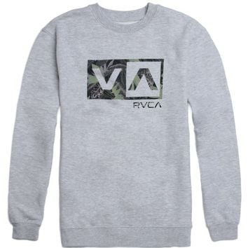 RVCA Jungle Box Crew Fleece - Mens Hoodie - Grey