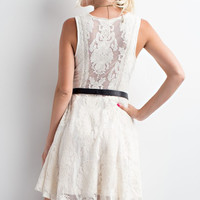 Vintage Whimsy White Lace Dress