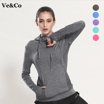 Sudaderas Mujer 2017 Spring Women's Yoga Shirts Long Sleeve Yoga Tops Sportswear Fitness Quick Dry Breathable Tracksuit Women