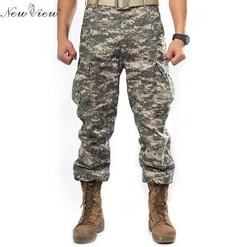 2017 Brand Men Clothing Camouflage Cargo Trouser Male Casual Man Pantalon Homme Solid Military Army Men Multi Pocket Pants