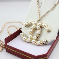 iOffer: 14K lady girl Gold Pearl Necklace mk218 for sale